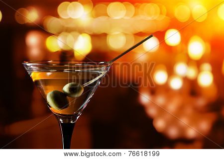 Glass With Martini
