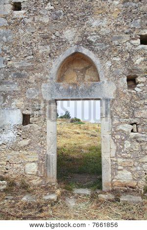 Ancient Monastary In Crete