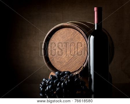 Wine on dark background