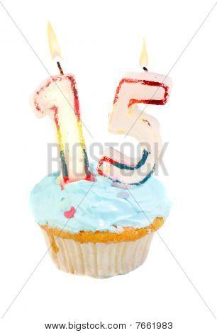 Décimo quinto aniversário Cupcake