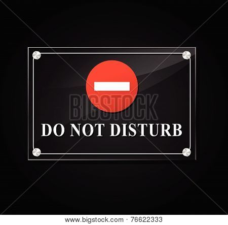 Do Not Disturb Transparent Sign