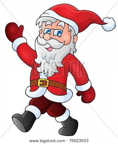 Santa Claus walk theme 1 - eps10 vector illustration.