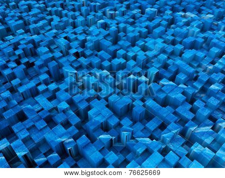 Blue Squared Surface