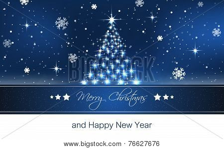 Christmas tree wallpaper, vector background for greeting card