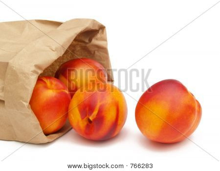 nectarines in a bag