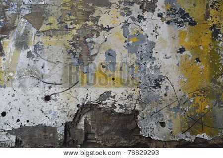 Paint Spattered Wood