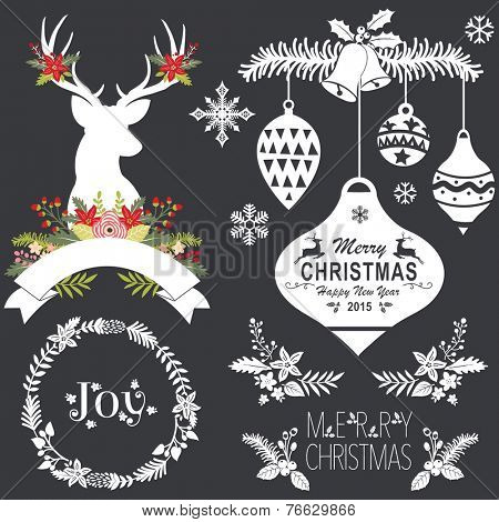 Chalkboard Christmas Set