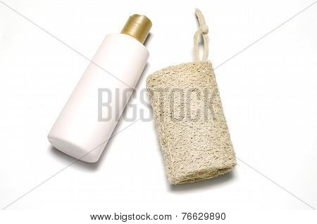 Loofah And Liquid Soap