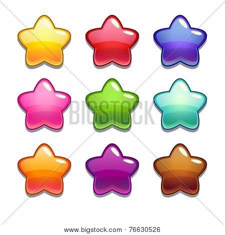 Cute cartoon jelly stars