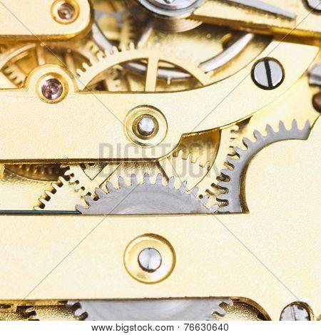 Gears Of Brass Mechanical Clockwork Of Retro Watc