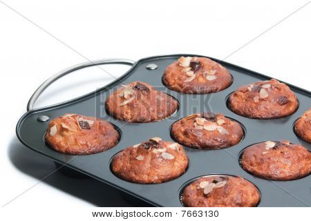 Muffin Tin With Fresh Muffins