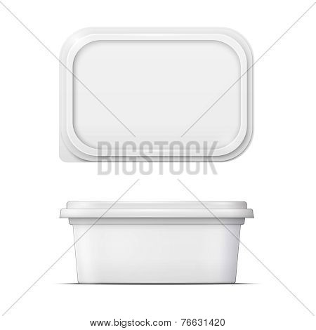 White margarine spread template.