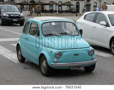 Light Blue Fiat 500