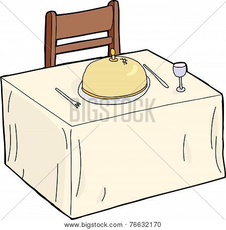 Isolated Fancy Dining Table