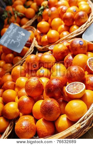 Oranges Exposed For Sale On Cours Saleya