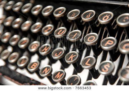 Keys Of An Old Rusty Typewriter