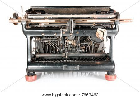 Old Rusty Typewriter From The Back