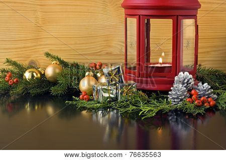 Christmas Lantern With Fir Tree