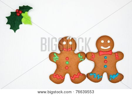 Gingerbread Cookies On The White Background