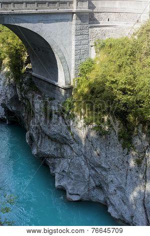 Stony Arch Bridge, Kobarid, Slovenia