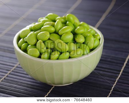 Edamame Soy Beans In Bowls