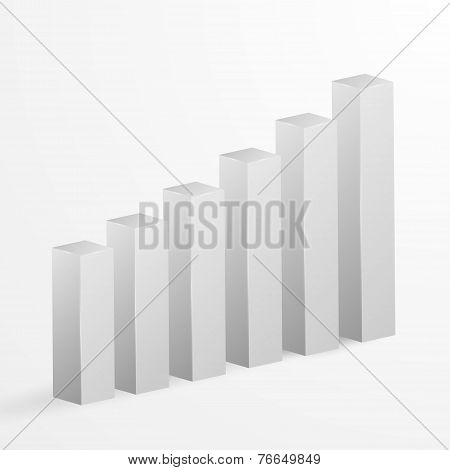 Financial Bar Graph Background. Vector Illustration.