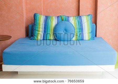 Blue Daybed At Terrace