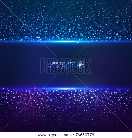 Blue cosmic star dust abctract background