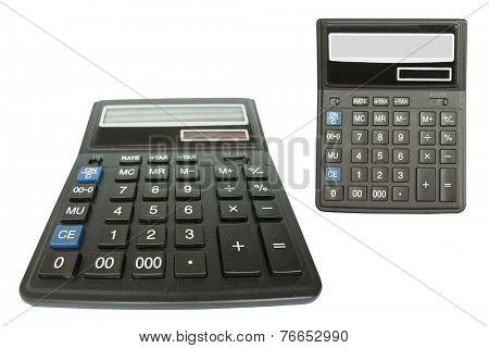 calculator under the white background