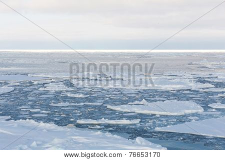 Drift Ice, Sea Of Okhotsk, Japan
