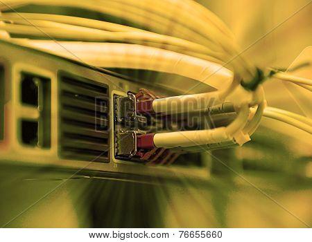 Network Optical Fiber Cables And Hub