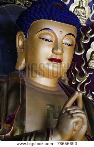 Golden Gautama Buddha statue