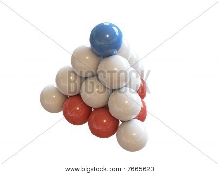 small pyramid of balls