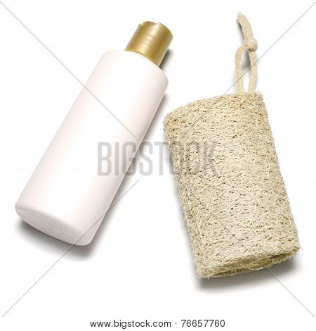 Loofah And Liquid Soap