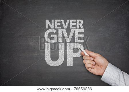 Never Give Up Blackboard