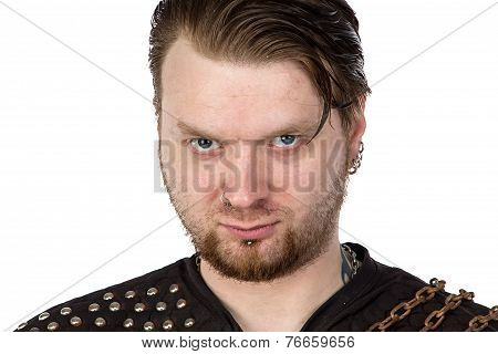 Photo of the man with angry look