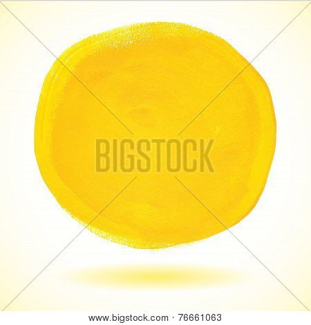 Illustration of Yellow acrylic paint vector circle