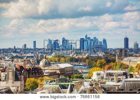 Paris Cityscape With La Defense