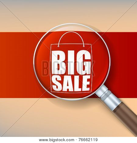 Magnifier, selling banner.