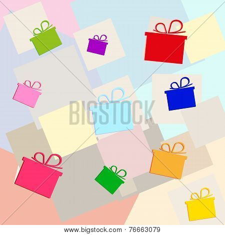vector color gifts christmas background