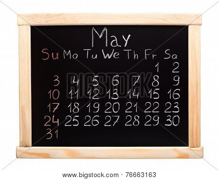 2015 year calendar. May. Week start on sunday