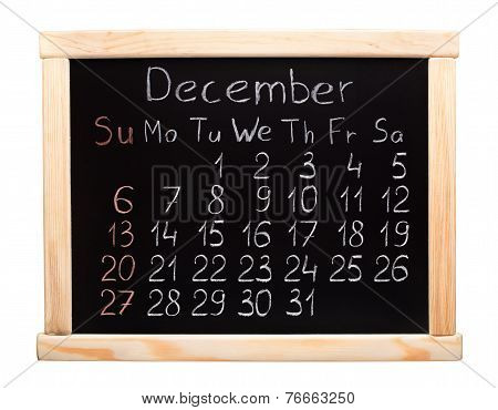 2015 year calendar. December. Week start on sunday