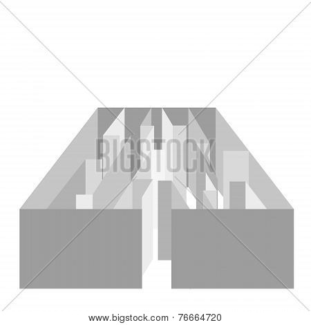 vector gray maze on white background