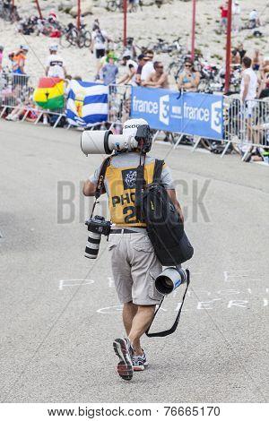 Photographer Of Le Tour De France