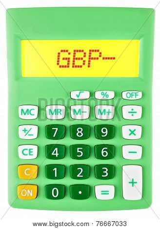 Calculator With Gbp On Display