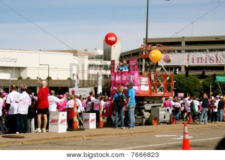 Race for the Cure Finish Line