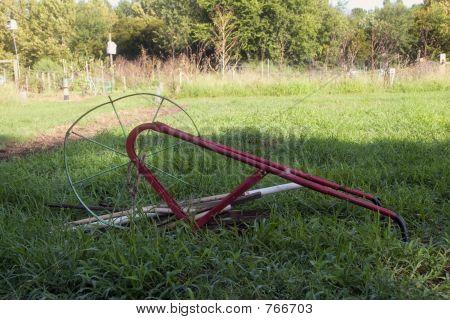 Hand plow and garden