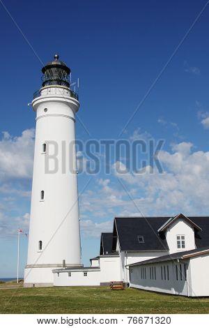 Hirtshals lighthouse in Denmark