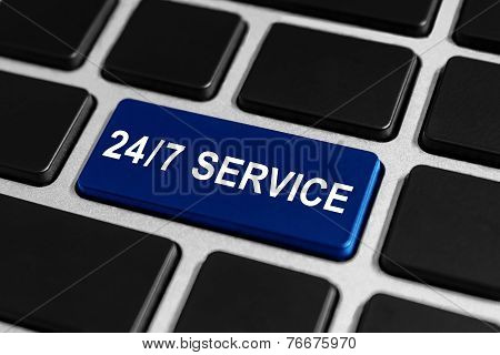 24/7 Service Button On Keyboard