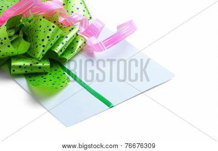 congratulatory letter for Valentine's Day isolated on white background